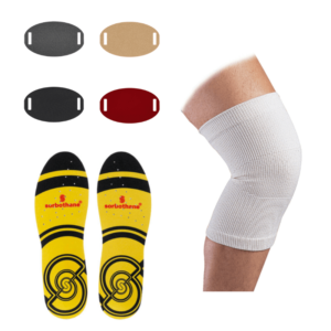 pack semelles sorbothane et prothese soigner douleur genou ozgood schlatter traitement attelle genou