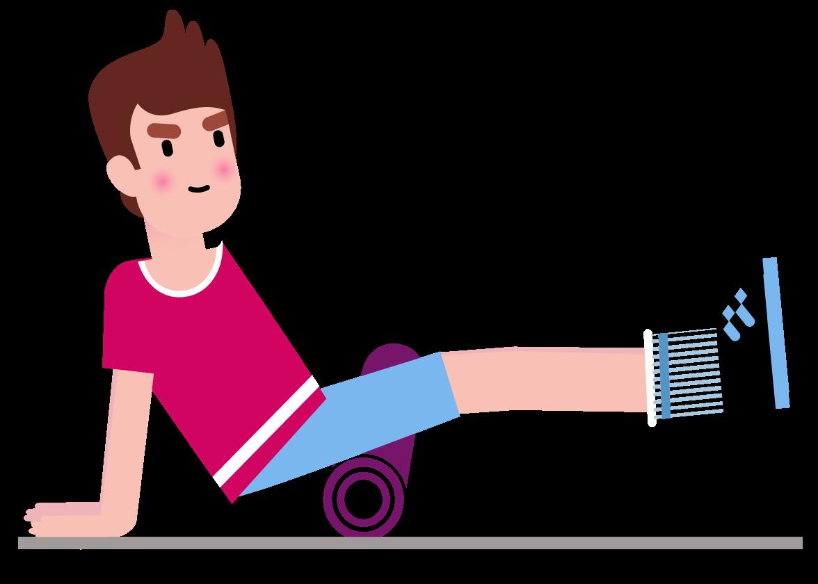 L étirement des muscles Ischio-jambiers et Fessiers à l aide d un rouleau de massage